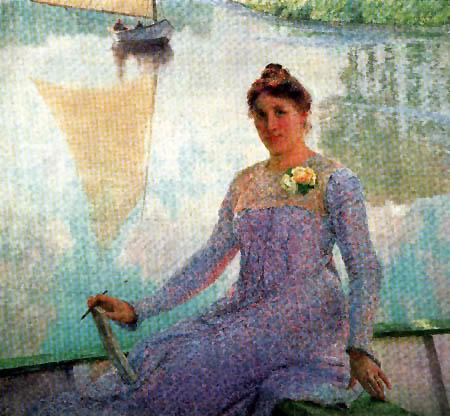 Emile Claus - Portrait of Anna de Weert