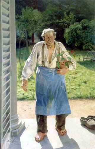 Emile Claus - The old gardener