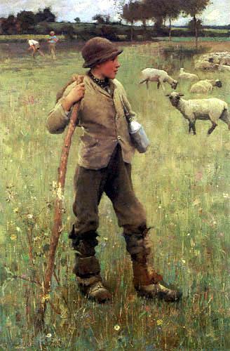 Sir George Clausen - The Shepherd Boy