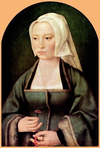 Joos van Cleve - Portrait of Margarethe Boghe