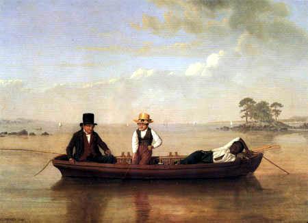 James Goodwin Clonney - Fishing in Long Island Sound, New Rochelle