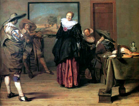 Pieter Jacobsz. Codde - Die Tanzstunde