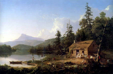 Thomas Cole - The home in the forests