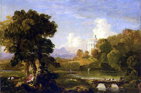 Thomas Cole - Paisaje con un Templo