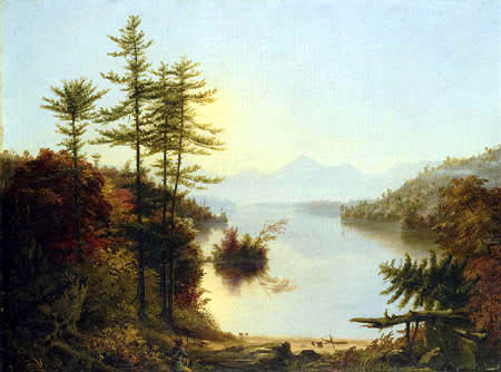 Thomas Cole - View on Lake Winnipiseogee