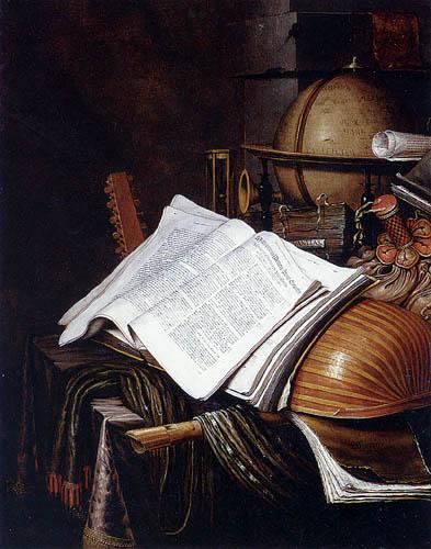 Edwaert Collier - Stilleben mit Globus und Buch