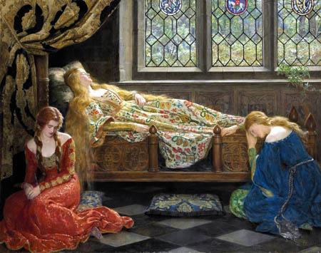 John Collier - The Sleeping Beauty