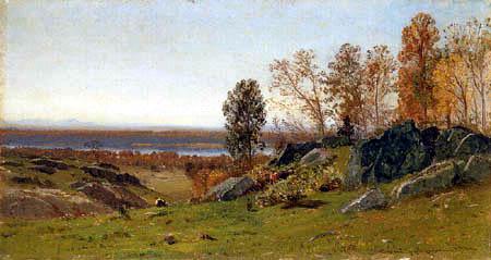 Samuel Colman - Paisaje de Irvington on Hudson
