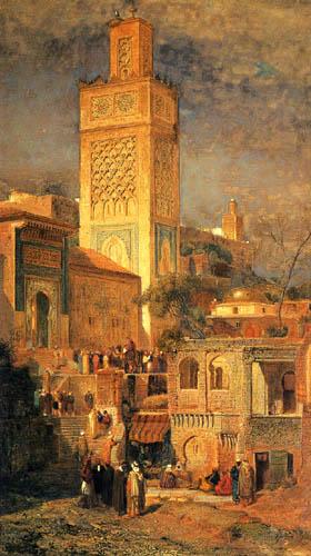 Samuel Colman - Maure mosquée de Sidi Halou Tlemcen, Algérie