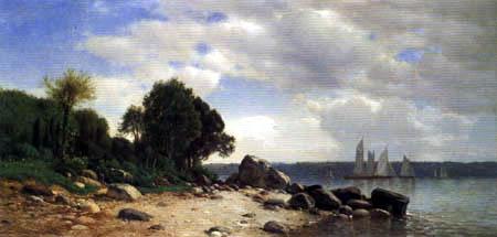 Samuel Colman - View of the Hudson River