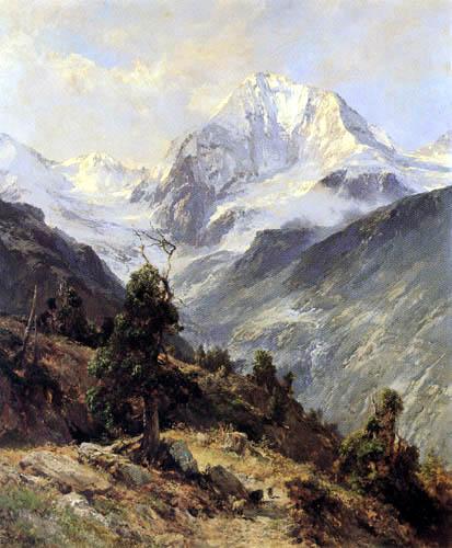 Edward Theodor Compton - Blick auf die Königsspitze