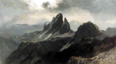 Edward Theodor Compton - Die drei Zinnen in den Dolomiten
