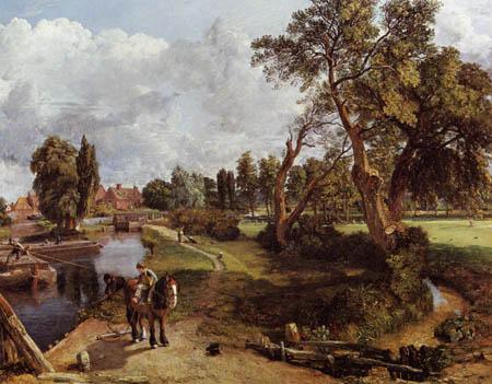 John Constable - Die Flatford Mühle