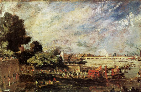 John Constable - Waterloo Bridge von Whitehall Stairs