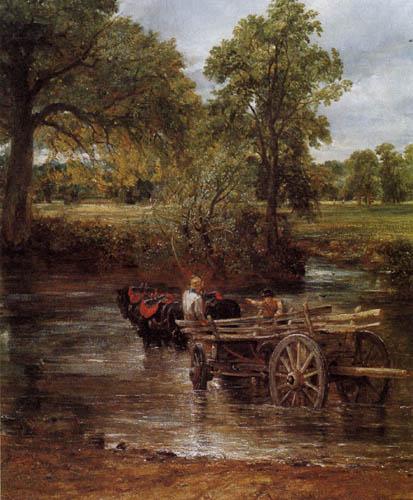 John Constable - Der Heuwagen, Detail