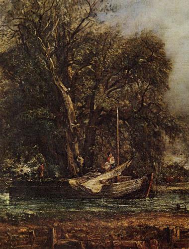 John Constable - Flußschiffer, Detail