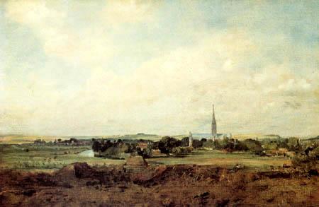 John Constable - View of Salisbury