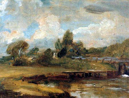 John Constable - Schleuse bei Flatford
