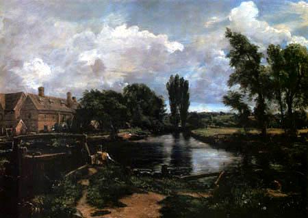 John Constable - Die Flatford Mühle und Schleuse