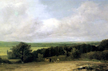 John Constable - Pflugszene in Suffolk