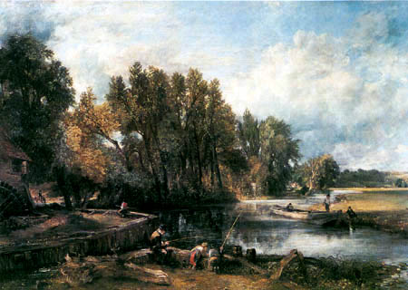 John Constable - Stratford Mühle, The Young Waltonians