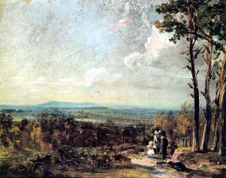 John Constable - Hampstead Heath, Blick auf Harrow