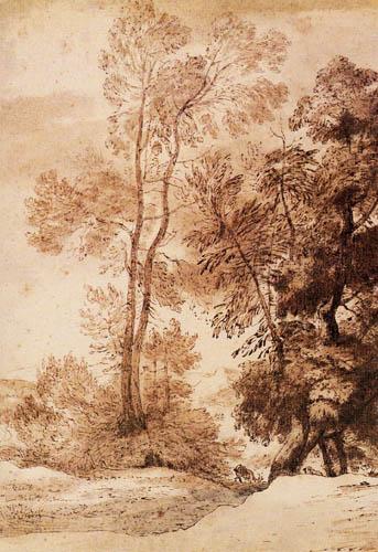 John Constable - Paisaje con árboles