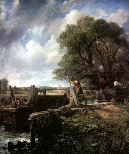 John Constable - Die Schleuse