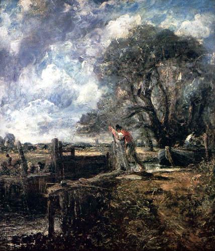 John Constable - Die Schleuse, Studie