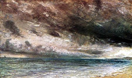 John Constable - Stormy Sea near Brighton