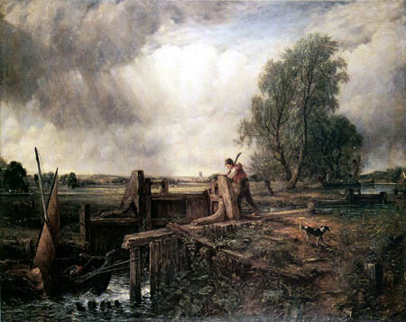 John Constable - A boat passes the watergate