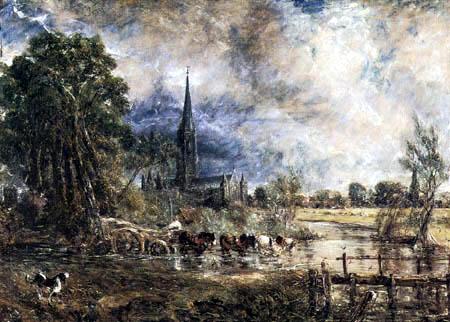 John Constable - Salisbury Cathedral, Studie