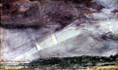 John Constable - Sturm über Hampstead Heath