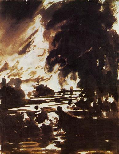 John Constable - Flusslandschaft