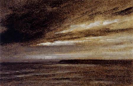 John Constable - Ein stürmischer Nachthimmel