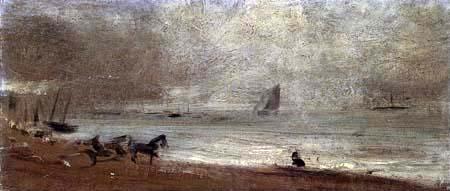 John Constable - Strandszene bei Brighton