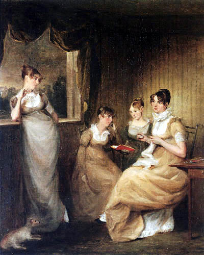 John Constable - Ladies from the Family of Mr. William Mason of Colchester
