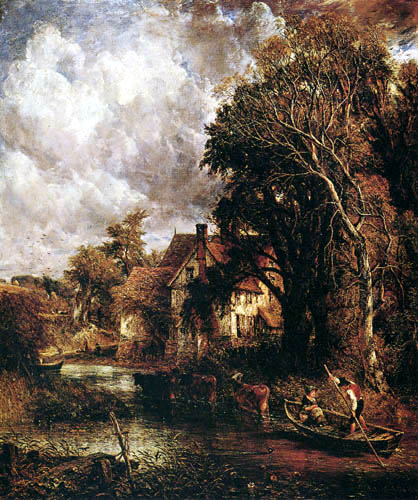 John Constable - The dairy farm in the valley