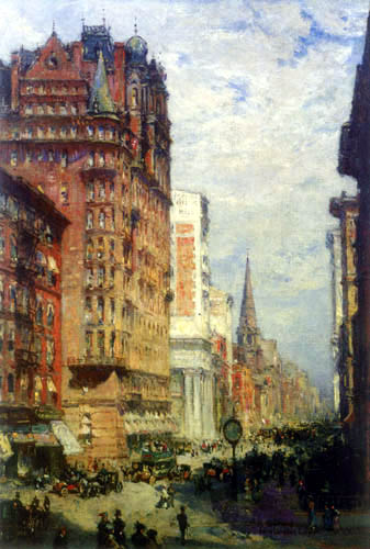 Colin Campell Cooper - Fifth Avenue, New York City