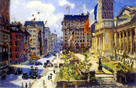 Colin Campell Cooper - New York Public Library