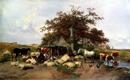 Thomas Sidney Cooper - El resto del mediodía de los animales