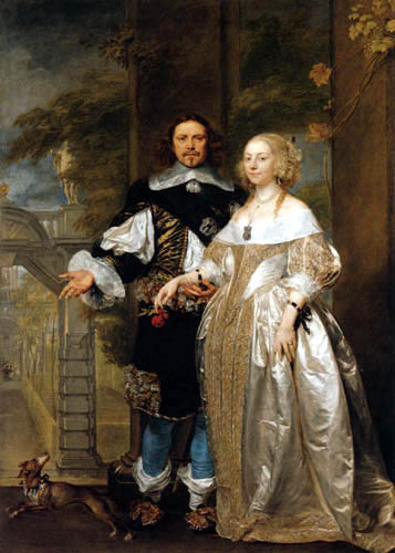 Gonzales Coques - A married couple in the park