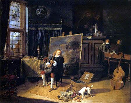 Gonzales Coques - In the artist's studio