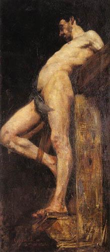 Lovis Corinth - Schächter am Kreuz