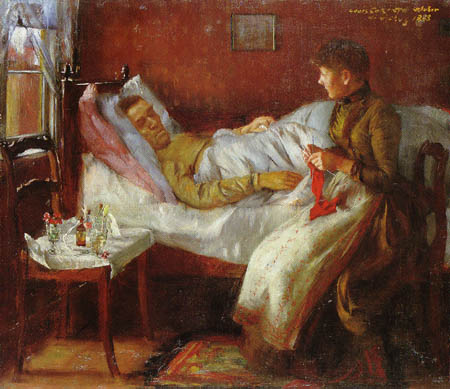 Lovis Corinth - The Father in the sickbed
