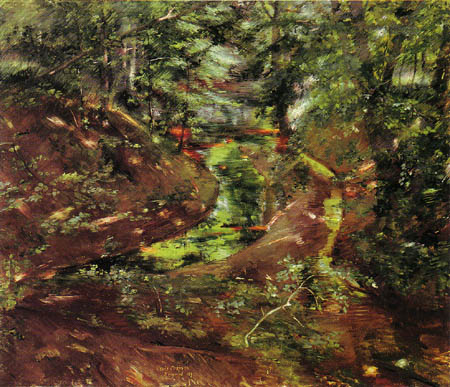 Lovis Corinth - In the forest near Bernried