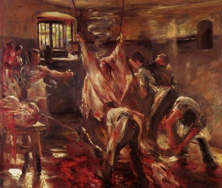 Lovis Corinth - Im Schlachthaus