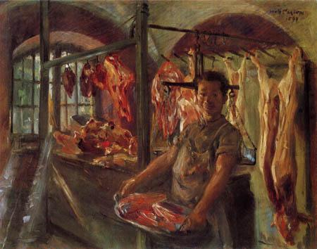 Lovis Corinth - Schlachterladen in Schäftlarn an der Isar