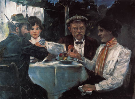 Lovis Corinth - In the garden of Max Halbe