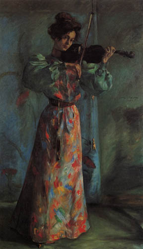 Lovis Corinth - Violin player